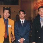 Shihan Miyoshi (Shinkyokushin), Kancho Yukio Nishida (Seibukai)