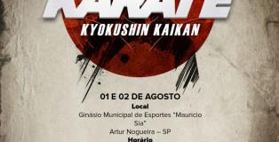 Cartaz do 11° Campeonato Paulista de Karate Kyokushinkaikan
