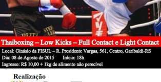 cartaz gaucho de kickboxing e bukeikoryu