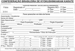 Ficha - Karate